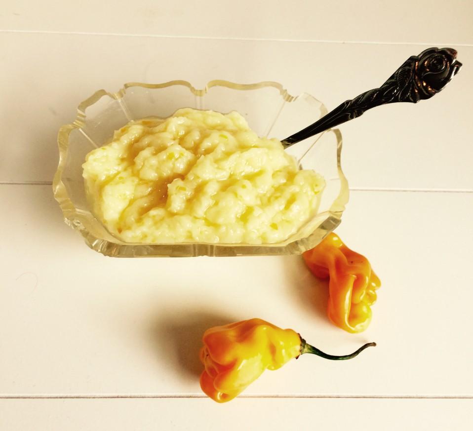 sambal van aardappel en gele peper
