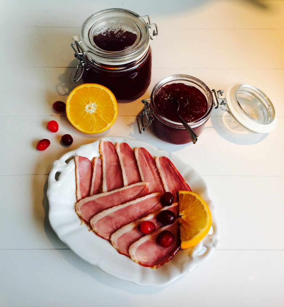 compote van sinaasappel en cranberry's
