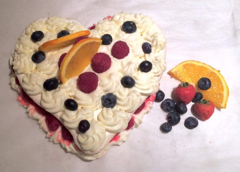 sinaasappel meringue voor valentijn