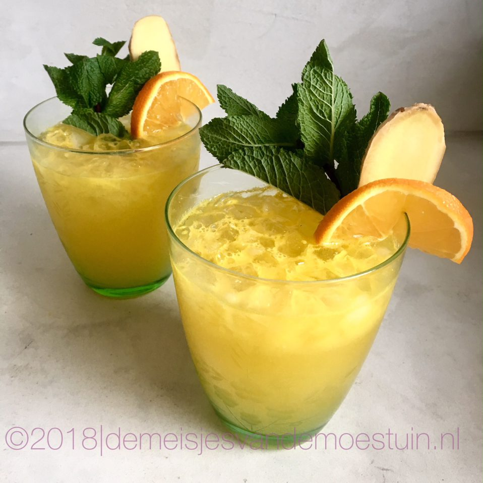 sinaasappel-gember mojito